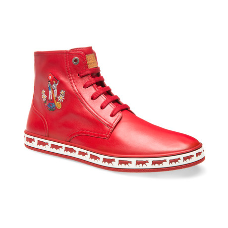 Alpistar Leather High-Top Sneakers // Red (US: 8)