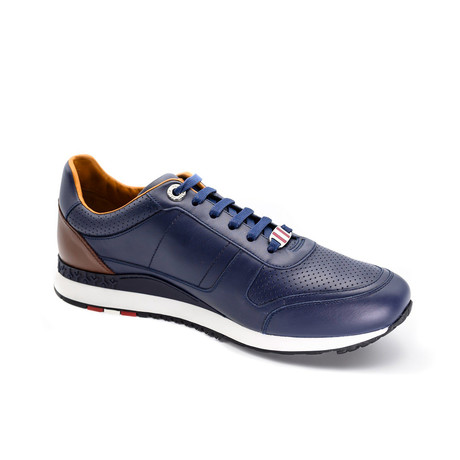 Men's Leather Trainers // Navy Blue (US: 7)