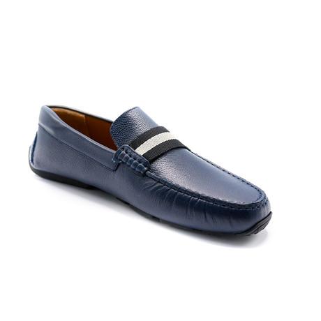 Men's Leather Driver Shoes // Navy Blue (US: 7)