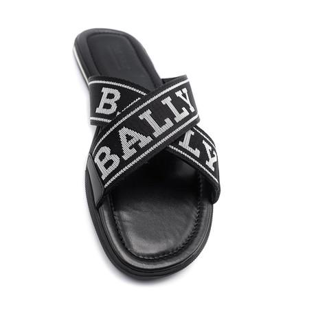 Men's Bonks Fabric Sandals // Black + White (US: 7)
