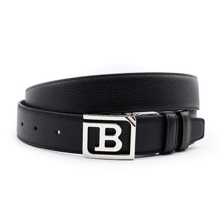 Leather Reversible + Adjustable Belt // Black
