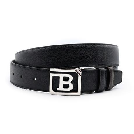 Men's Leather Reversible + Adjustable Belt // Black