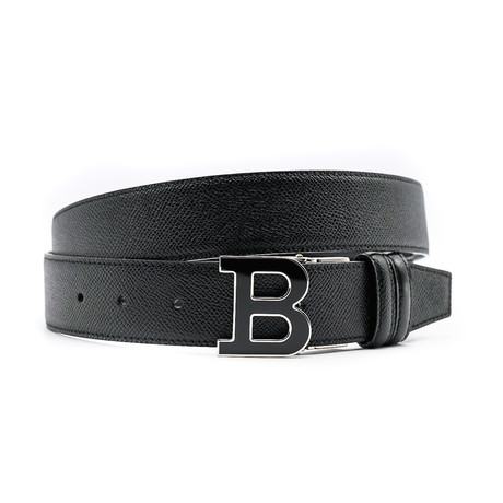 Adjustable + Reversible Leather Belt // Black