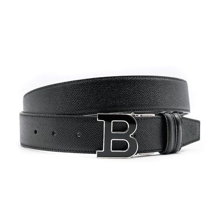 Men's Adjustable + Reversible Leather Belt // Black