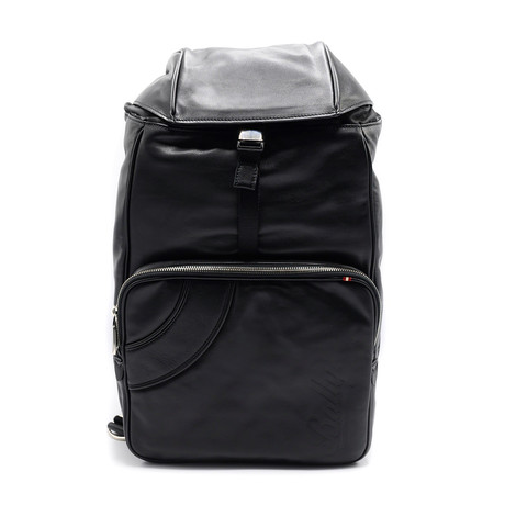 Shake Calf Leather Backpack + Drawstring Closure // Black