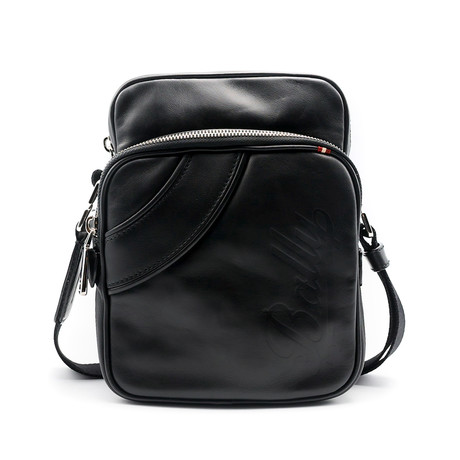 Snazz Calf Leather Crossbody Bag // Black