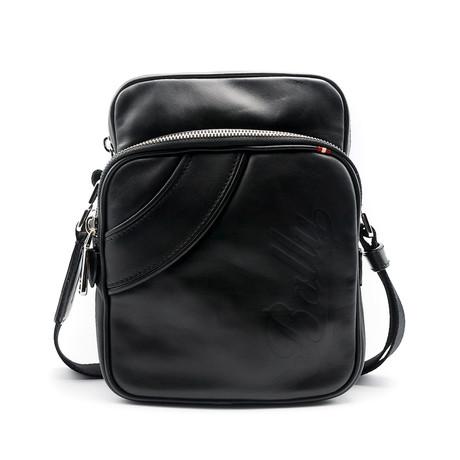 Men's Snazz Calf Leather Crossbody Bag // Black