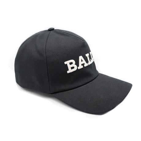 Men's Cotton Canvas Baseball Cap // Black (58/M)