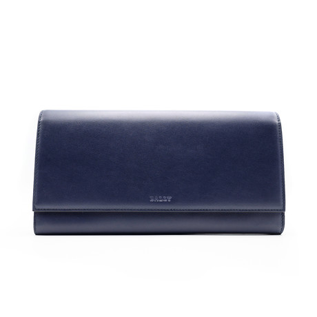 Tifth Calf Leather Travel Wallet // Navy Blue