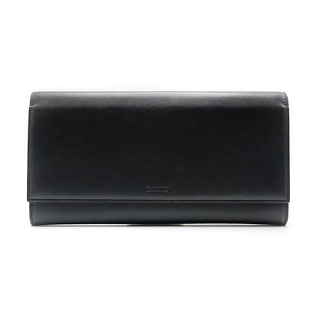 Men's Tifth Calf Leather Travel Wallet // Black