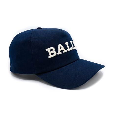 Cotton Canvas Baseball Cap // Navy Blue (58/M)