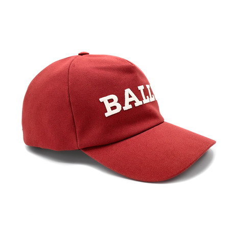 Cotton Canvas Baseball Cap // Red (58/M)