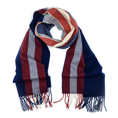 Wool Trainspotting Scarf // Dark Navy