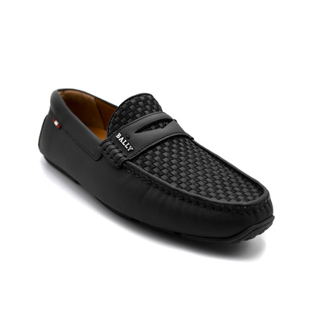 Smooth Leather Driver Shoes // Black (US: 7)