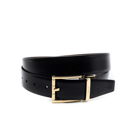 Men's Adjustable + Reversible Calf Leather Belt // Black