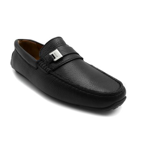 Men's Picaro Grained Deer Leather Driver Shoes // Black (US: 7)