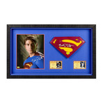 Brandon Routh // Superman Returns // Framed Photo + 1:1 Scale Superman Emblem