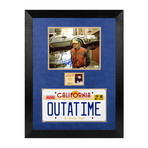 Framed + Autographed Photo // Marty McFly & Doc // Michael J. Fox + Christopher Lloyd