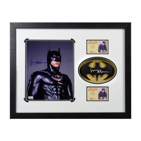 Val Kilmer // Batman Forever // Framed Photo + Batarang
