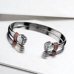 Hands Cuff Bracelet // Black (S-M)