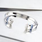 Hands Cuff Bracelet // Silver (S-M)