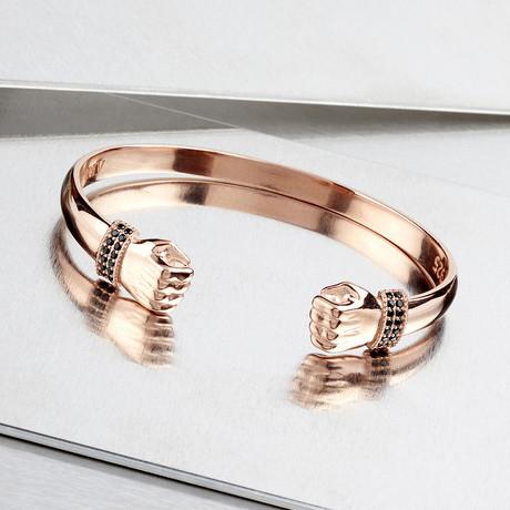 Hands Cuff Bracelet // Rose (XS-S)