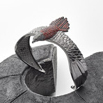 Eagle Cuff Bracelet // Black + Red (M-L)