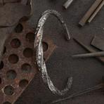 Wring Cuff Bracelet // Silver + Gold (S-M)