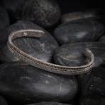 Sand Cuff Bracelet // Black (M-L)