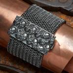Skull Armor Bracelet // Black (L-XL)