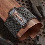 Ancel Armor Bracelet // Black + Rose (L-XL)