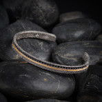 Sand Cuff Bracelet // Black + Gold (XS-S)