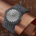 Round Armor Bracelet // Black + Silver (M-L)