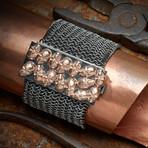 Skull Armor Bracelet // Black + Rose (M-L)