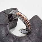 Knife Cuff Bracelet // Rose (M-L)
