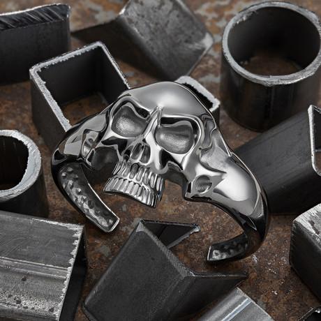 Big Skull Bracelet // Black (XS-S)