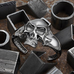 Big Skull Bracelet // Black (M-L)