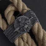 Bone Armor Bracelet // Black (L-XL)