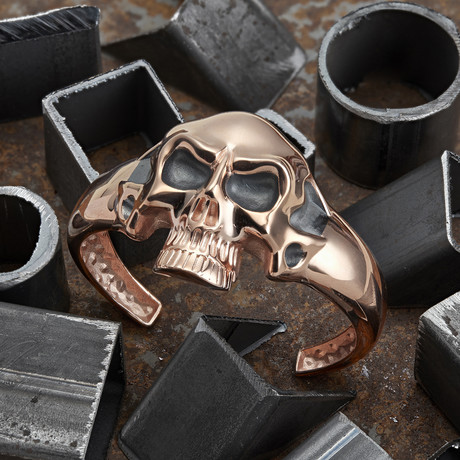 Big Skull Bracelet // Rose (XS-S)
