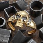 Big Skull Bracelet // Gold (M-L)