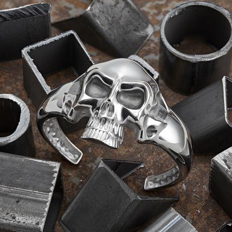 Big Skull Bracelet // Silver (XS-S)