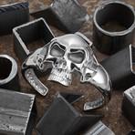 Big Skull Bracelet // Silver (S-M)