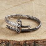 Sword Bracelet // Silver + Black (L-XL)