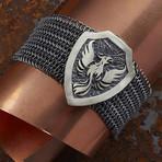 Eagle Armor Bracelet // Black + Silver (XS-S)