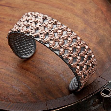 Mini Skulls Cuff Bracelet // Rose (XS-S)