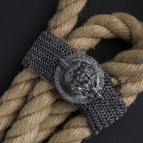 Lion Armor Bracelet // Black (XS-S)