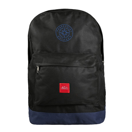 Compass Backpack // Black + Navy