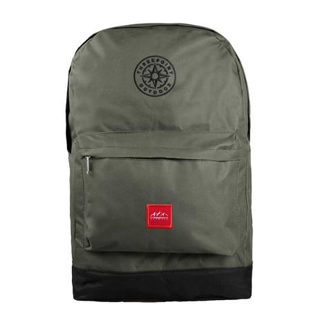 Compass Backpack // Khaki + Black