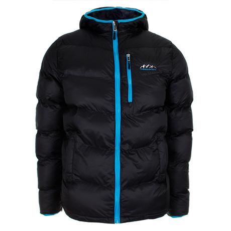 Buffalo Peak Puffa Jacket // Black + Blue (S)