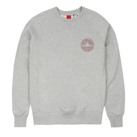 Mountain Adventures Crew Neck Sweater // Gray Heather (S)